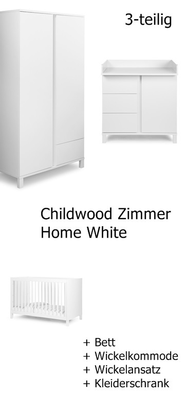 Kinderzimmer Home White Frei Haus Schrank Kommode Bett Childwood