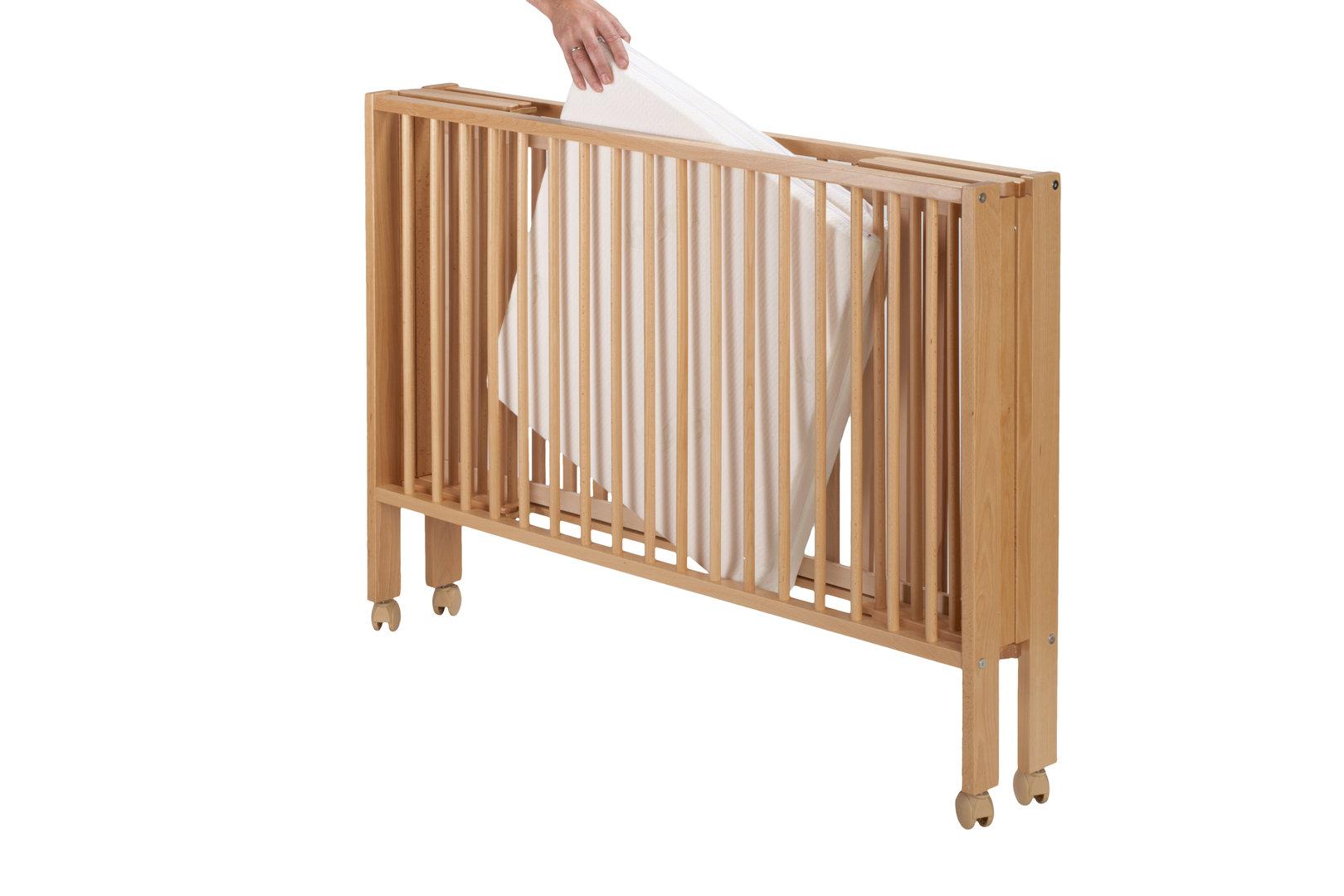 DawOst TiSsi® Reisebett Kinderbett Klappbett + Matratze