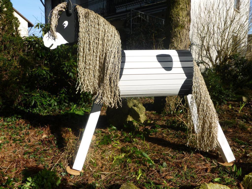 holzpferd, voltigierpferd 140 cm lasiert frei haus - precogs
