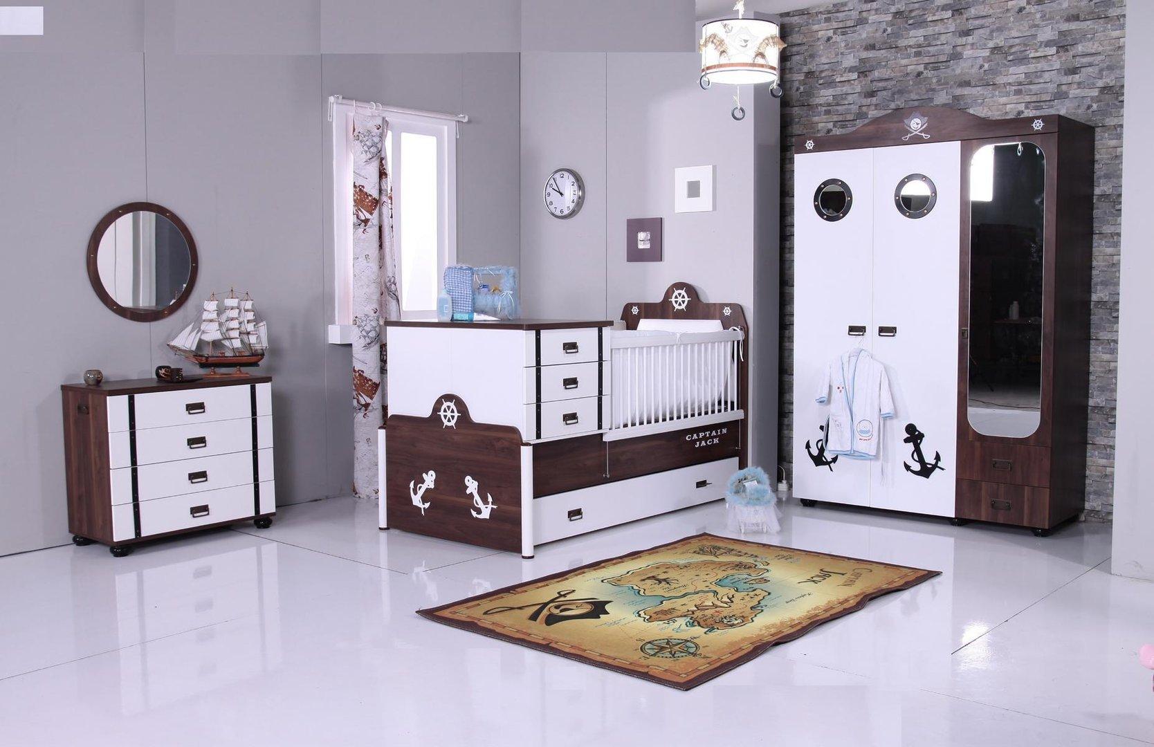 Kinderzimmer pirat  Babyzimmer Jungenzimmer Kinderzimmer by MM Pirat 6-teil Jack + ...