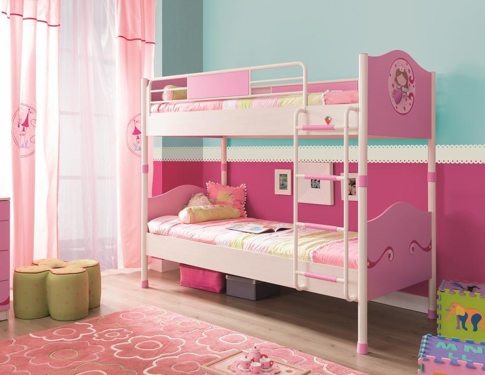 Etagenbett Pink : Bymm etagenbett cm princess pink precogs