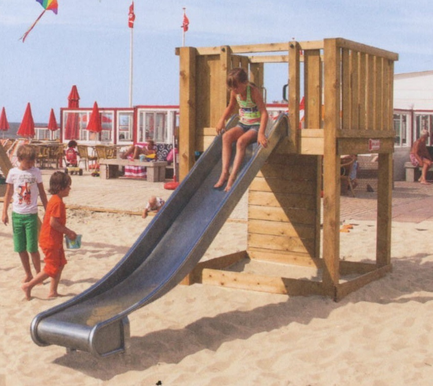 Spielturm Hy-Land mit Sandkasten, Rutsche Kletterwand P1 stahl - Precogs