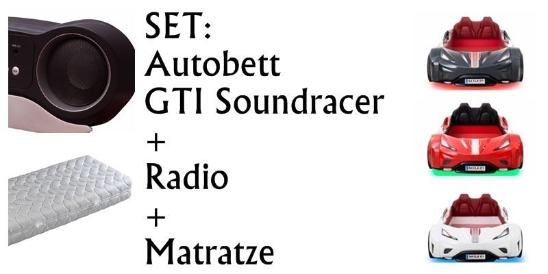 Autobett Cilek GTI Soundracer LED byMM + Matratze + RADIO