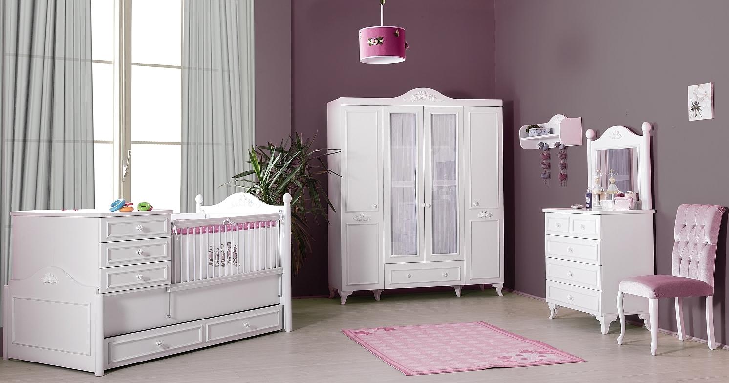 byMM Babyzimmer Kinderzimmer SiENA 4-türiger Schrank - Precogs