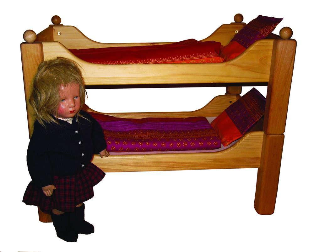Puppen Etagenbett Holz : Puppen bett etagenbett mamikreisel