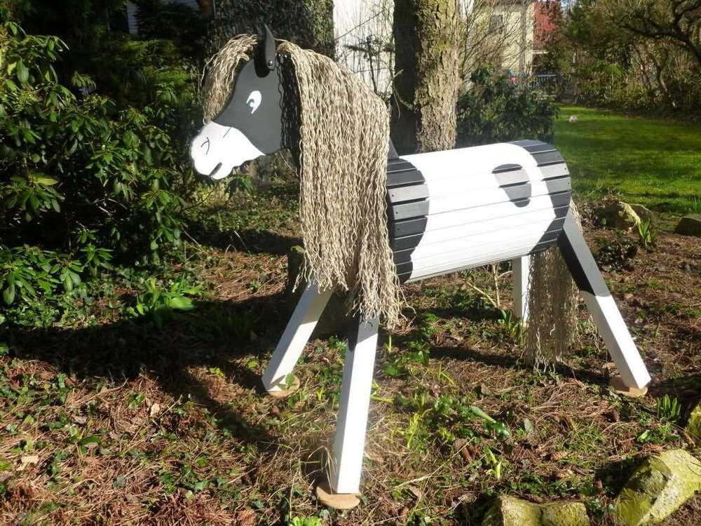 Holzpferd voltigierpferd Holzspielzeug