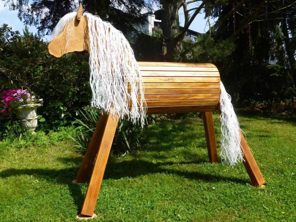 holzpferd voltigierpferd 60 cm lasiert frei haus - precogs