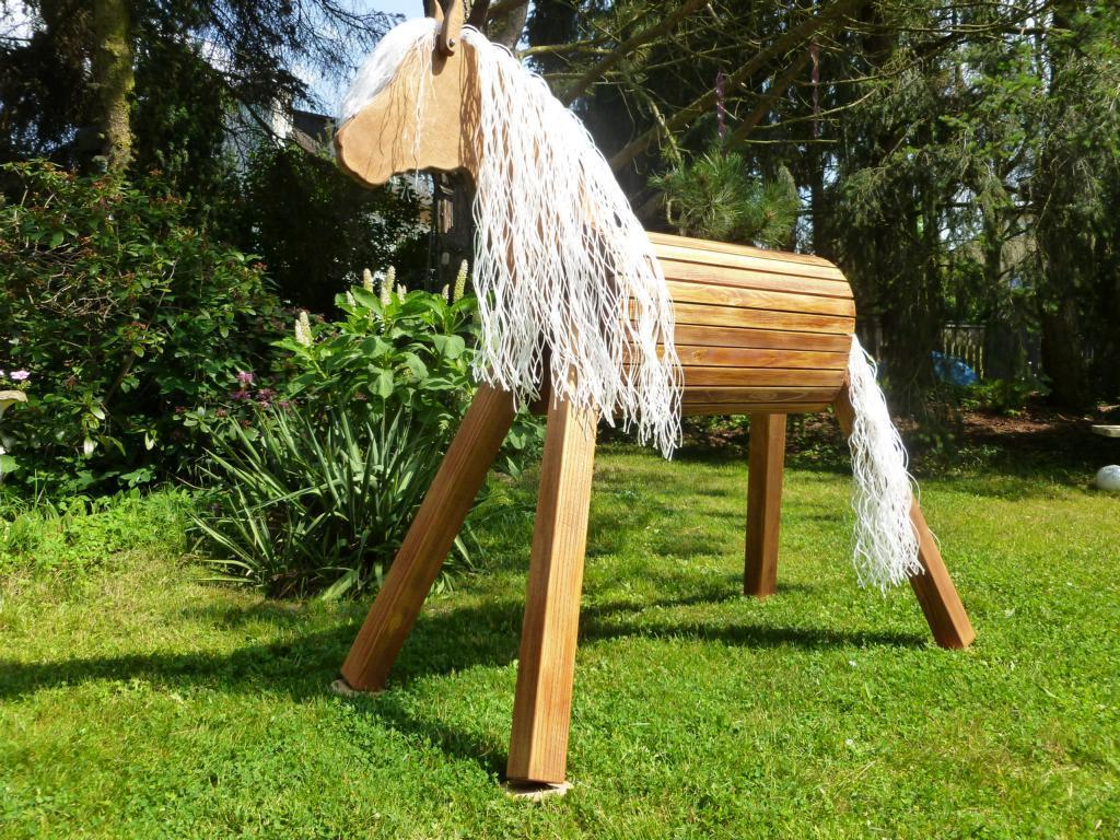 holzpferd voltigierpferd 140 cm lasiert frei haus precogs. Black Bedroom Furniture Sets. Home Design Ideas