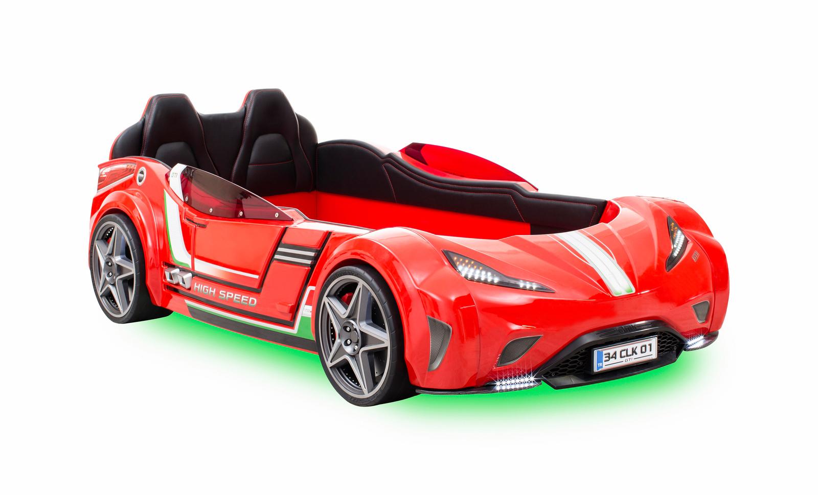 Autobett GTI Sport Cilek rot LED, SOUND byMM + 1 KG Haribo + ...
