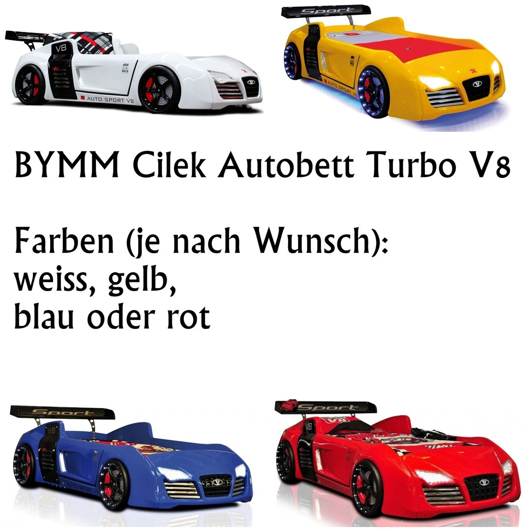 bymm cilek autobett turbo v8 rot weiss matratze bezug precogs. Black Bedroom Furniture Sets. Home Design Ideas