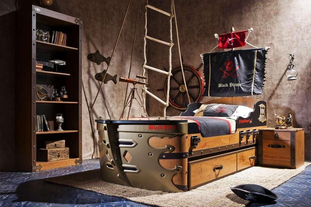 Piraten Kinderzimmer Set Schiffsbett byMM Frei Haus - Precogs