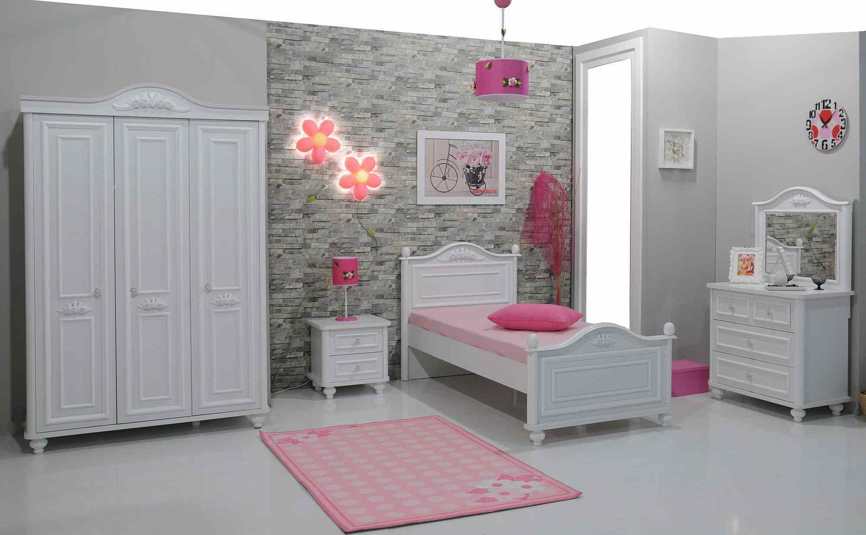 kinderzimmer bella by mm haribo 3 teilig precogs. Black Bedroom Furniture Sets. Home Design Ideas