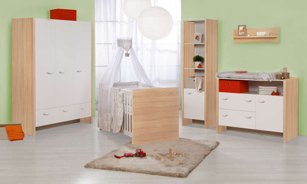 Roba Kinderzimmer Ancona Breite Wickel 2turiger Schrank Bett