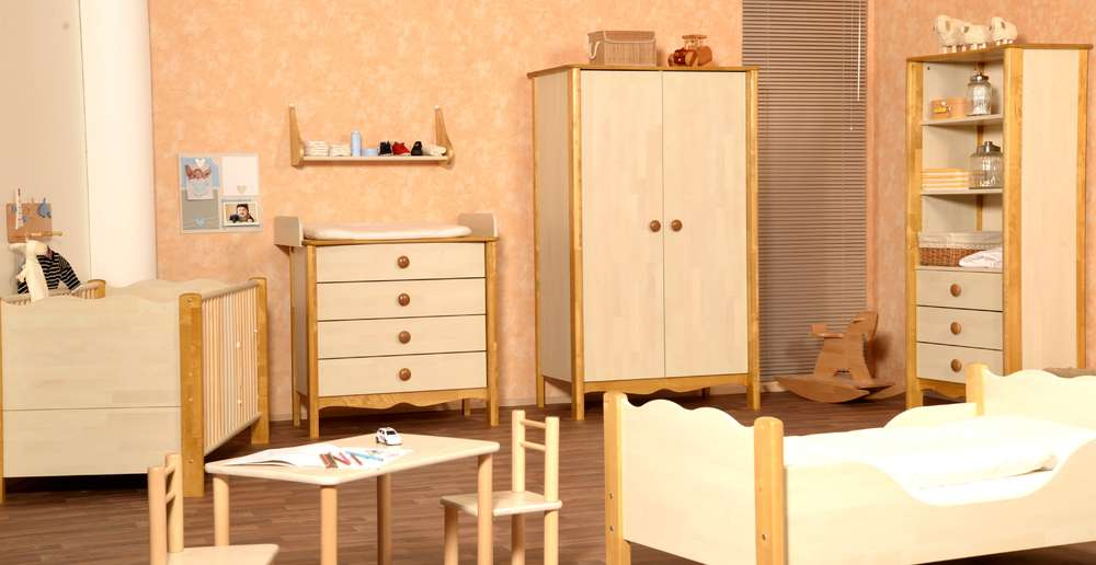 Taube Nostalgie Kinderzimmer Birke Massiv Natur Geölt Precogs
