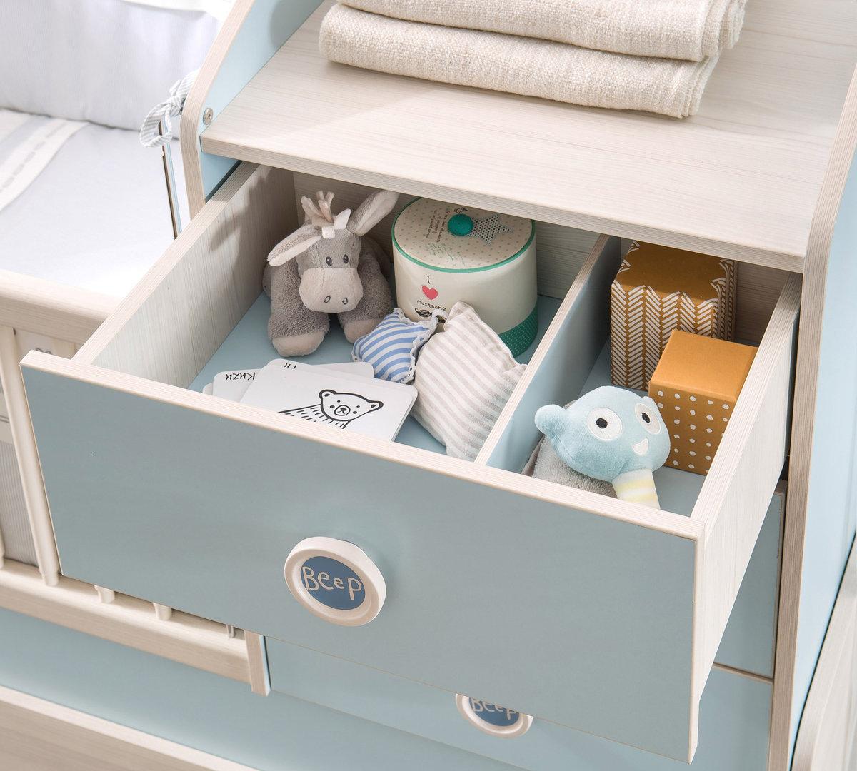 kombi babybett babyblue classic 4 teilig umbaubar bymm. Black Bedroom Furniture Sets. Home Design Ideas