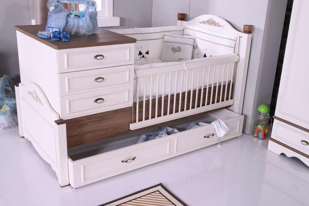 beby bett landhaus babybett fliarina in wei aus kiefer. Black Bedroom Furniture Sets. Home Design Ideas