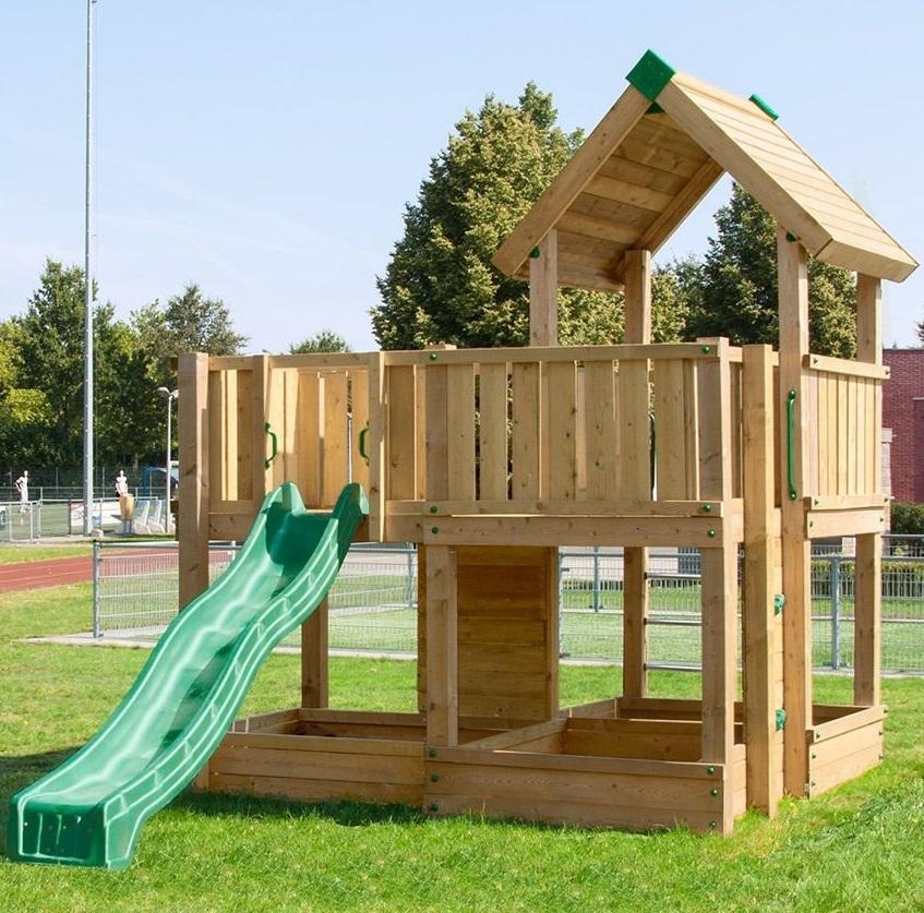 Bekannt P3 Hy-Land spielturm mit 2 Plattformen Dach Leiter, Kletterwand DV38