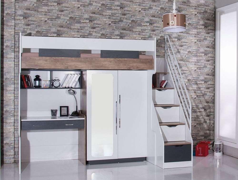 Etagenbett Hoch : Bymm hoch etagenbett komb. 6 90 x 200 gratis lieferung precogs