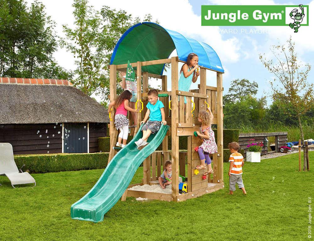 Klettergerüst Jungle Gym : Jungle gym spielturm farm kletterturm rutsche holzhaus baumhaus