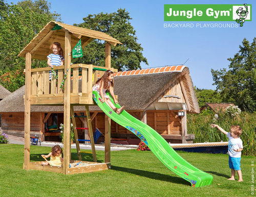 Jungle Gym Spielturm Jungle Shelter Rutsche Frei Haus