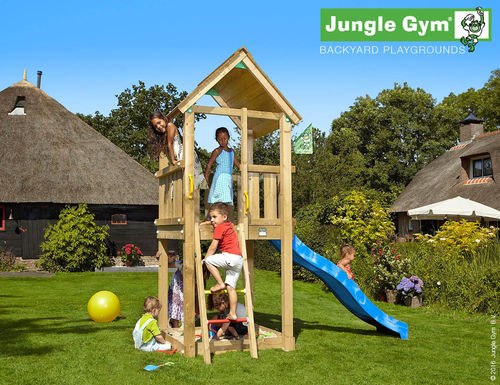 Jungle Gym Spielturm Jungle Club + Rutsche Frei Haus