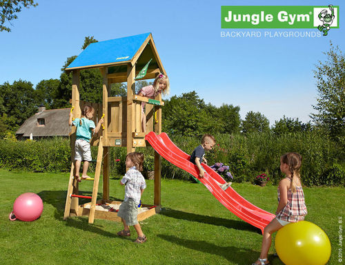 Jungle Gym Spielturm Jungle Castle Rutsche  Frei Haus