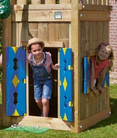 Jungle Gym Spielhaus Playhouse Casa Home Castle Club Hut Tower Farm 145 cm