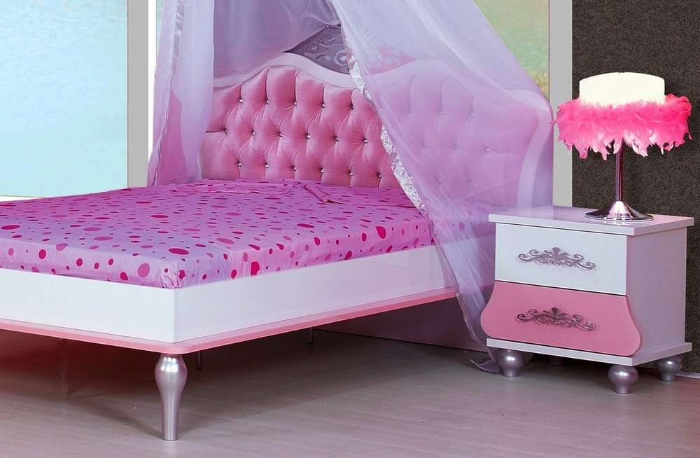 Bymm Kinderbett Anastasia 120 X 200 Rose Rosa 1 Kg Haribo Frei