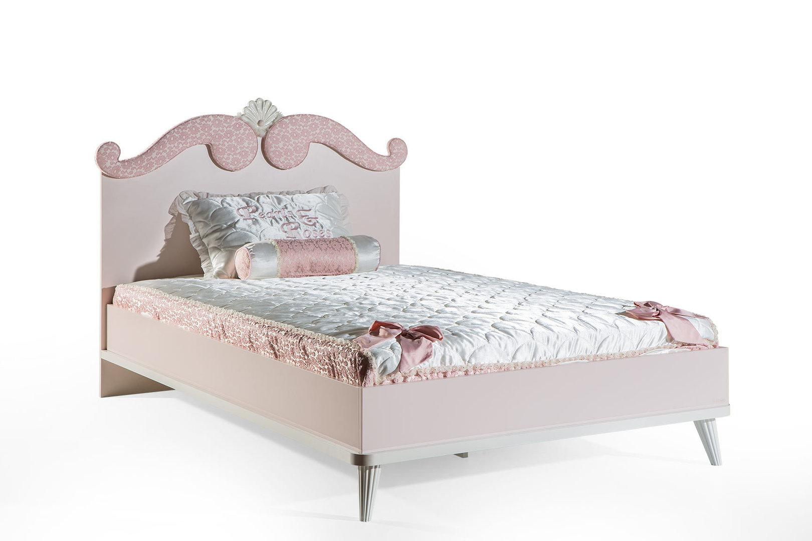 bymm kinderbett rosa in altrosa 120 x 200 frei haus precogs. Black Bedroom Furniture Sets. Home Design Ideas