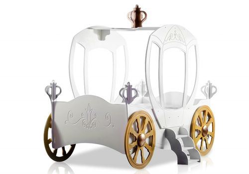 byMM Kinderbett Kutsche Princess Carriage + Matratze